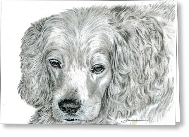 Painted Puppies Drawings Greeting Cards - Cocker Spaniel Greeting Card by Elizabeth Sage
