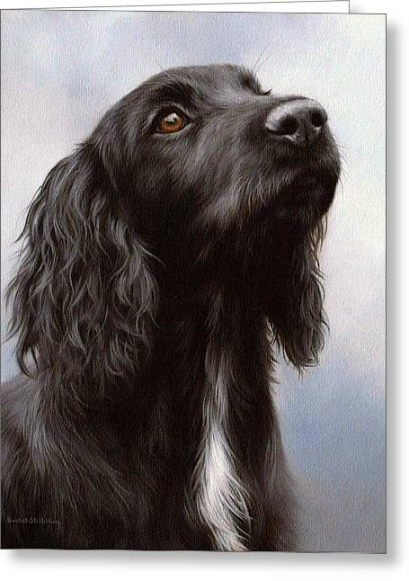 Pet Portrait Artist Greeting Cards - Cocker Spaniel Painting Greeting Card by Rachel Stribbling