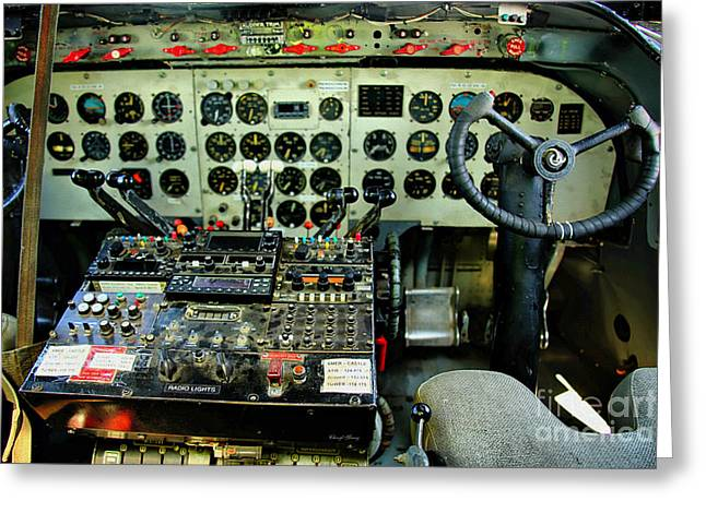 Control Panels Greeting Cards - Cockpit Greeting Card by Cheryl Young