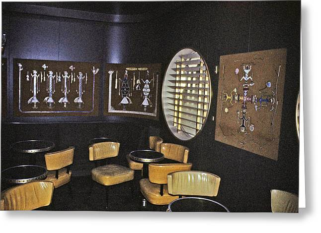 Cocktail Lounge Greeting Card by John Harding Photography