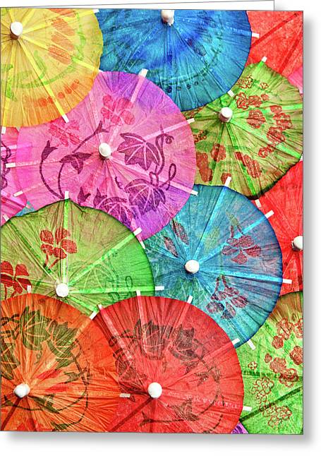Mixed Drink Greeting Cards - Cocktail Umbrellas VI Greeting Card by Tom Mc Nemar