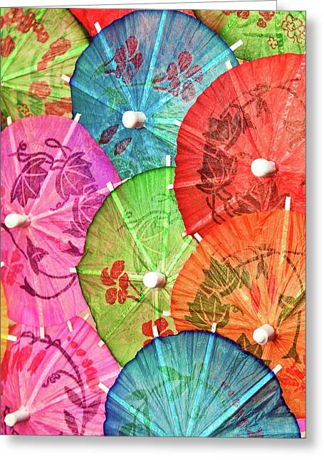 Mixed Drink Greeting Cards - Cocktail Umbrellas VII Greeting Card by Tom Mc Nemar