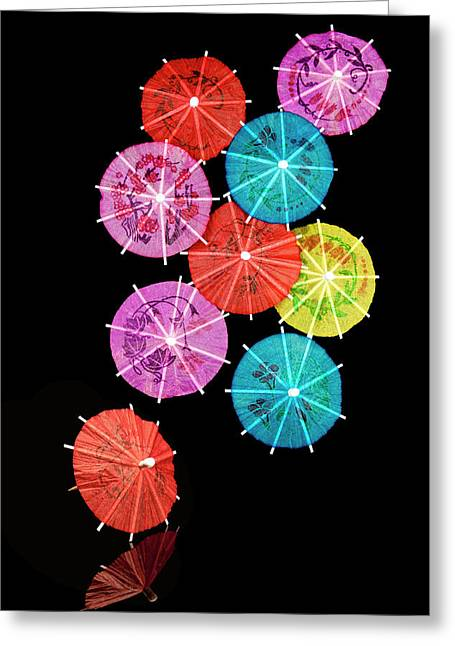 Mixed Drink Greeting Cards - Cocktail Umbrellas VIII Greeting Card by Tom Mc Nemar