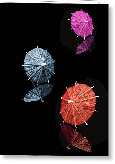 Adorning Greeting Cards - Cocktail Umbrellas XI Greeting Card by Tom Mc Nemar