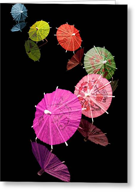Mixed Drink Greeting Cards - Cocktail Umbrellas XII Greeting Card by Tom Mc Nemar