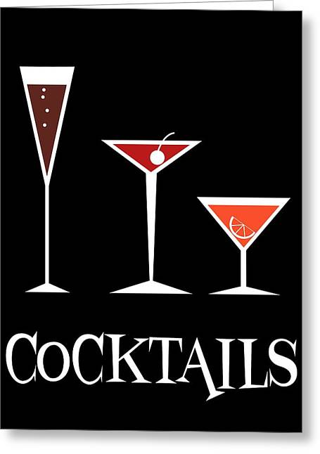 Toast Greeting Cards - Cocktails Greeting Card by Donna Mibus