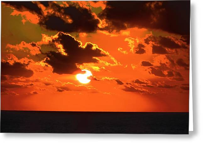 Coco Cay Greeting Cards - CoCo Cay Sunset Greeting Card by Jennifer Wheatley Wolf