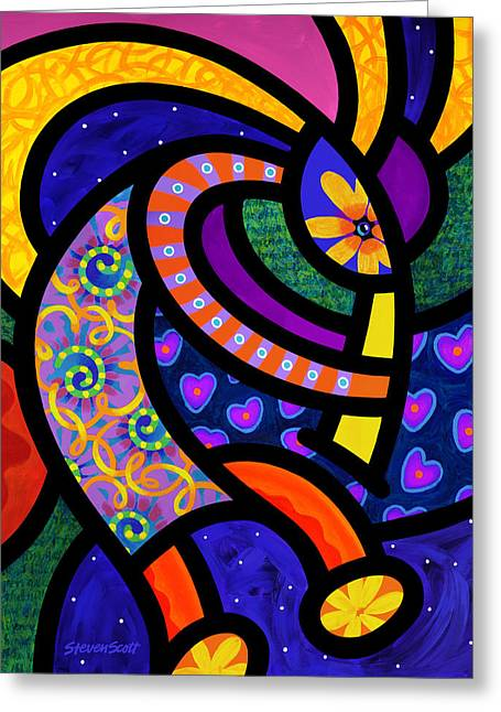 Flute Player Greeting Cards - Coco Koko Pelli Greeting Card by Steven Scott