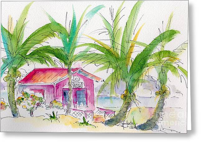 Coco Cay Greeting Cards - Coco Plum Greeting Card by Pat Katz