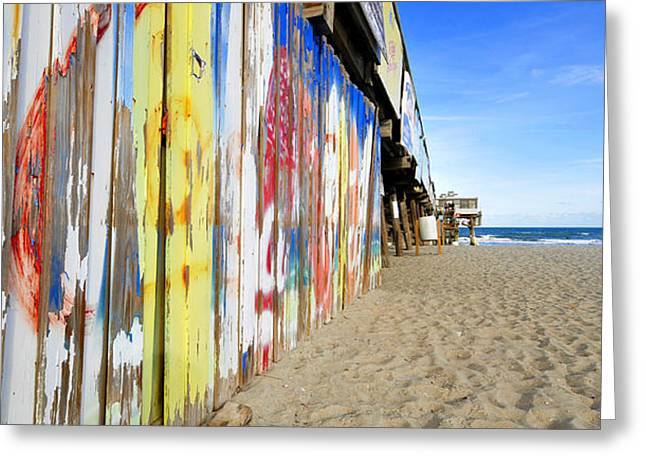 Florida Landscape Photography Greeting Cards - Cocoa Beach Pier Pano Greeting Card by David Lee Thompson