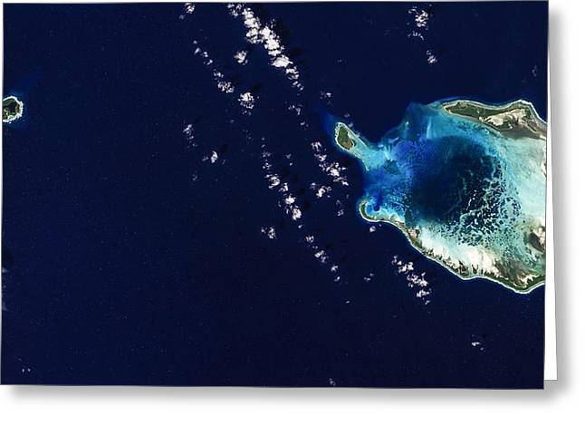 Landforms Greeting Cards - Cocos Islands Greeting Card by Adam Romanowicz