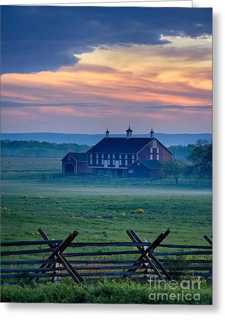 Fieldstone Greeting Cards - Codori Farm and Gettysburg Battlefield Greeting Card by John Greim