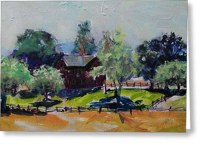 Loose Greeting Cards - Codori Farm In Gesture Greeting Card by Larry Lerew