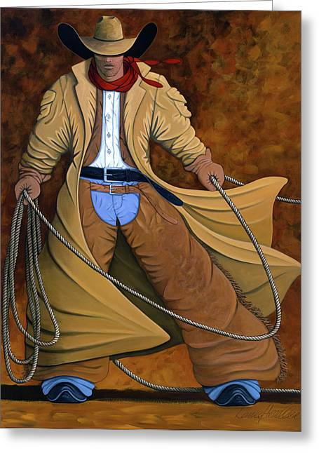 Modern Western Greeting Cards - Cody Greeting Card by Lance Headlee