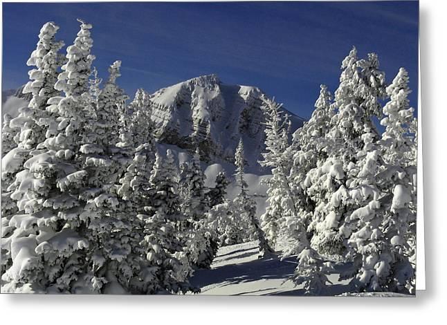 Raymond Salani Iii Greeting Cards - Cody Peak After a Snow Greeting Card by Raymond Salani III
