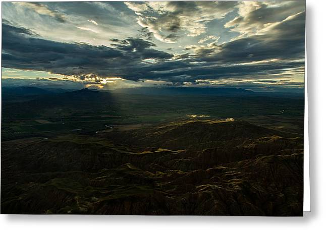 Palm Springs Airport Greeting Cards - Cody Sunset Greeting Card by John Daly