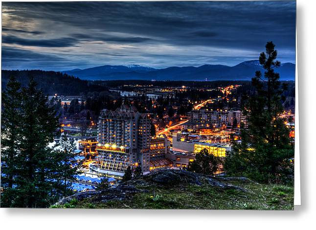 North Idaho Greeting Cards - Coeur d alene Obscurity Greeting Card by Derek Haller