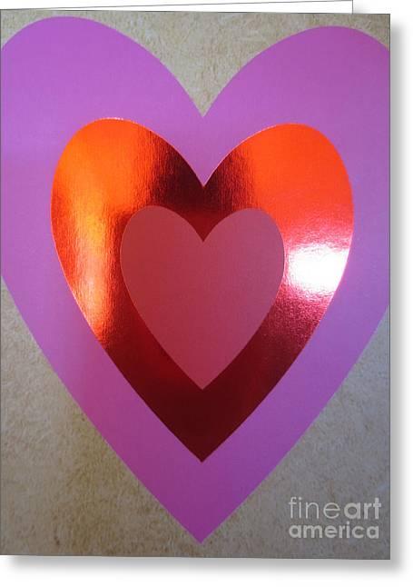 Coeurs De Papier / Paper Hearts Greeting Card by Dominique Fortier