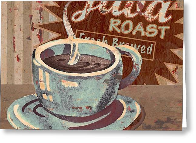 Barista Greeting Cards - Cofee Brew Sign III Greeting Card by Paul Brent