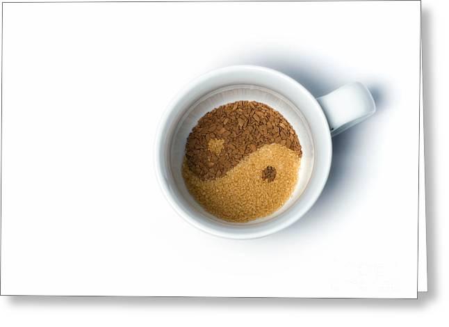 Yang Greeting Cards - Coffe and sugar Greeting Card by Sinisa Botas