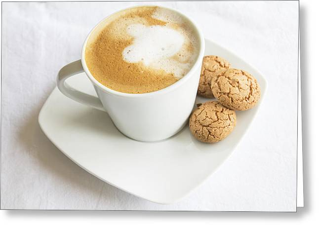 Biscotti Greeting Cards - Coffee and Biscotti Greeting Card by Nomad Art And  Design