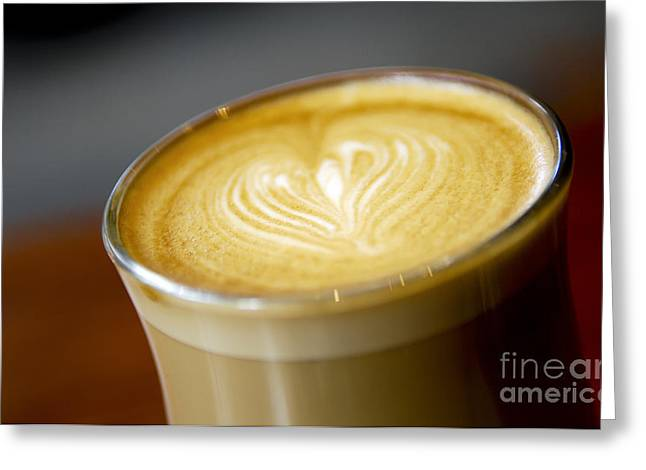 Barrista Greeting Cards - Coffee Art Greeting Card by Tim Hester