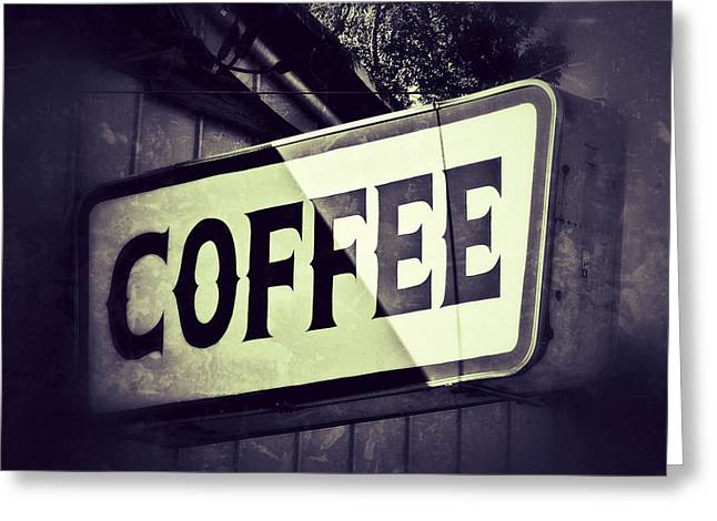 Kitchen Wall Greeting Cards - Coffee Bar Greeting Card by Brandon Addis