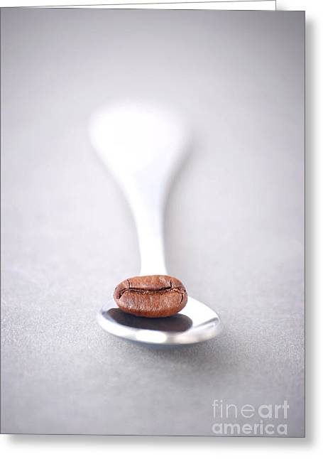 Coffee Drinking Greeting Cards - Coffee Bean Greeting Card by HD Connelly
