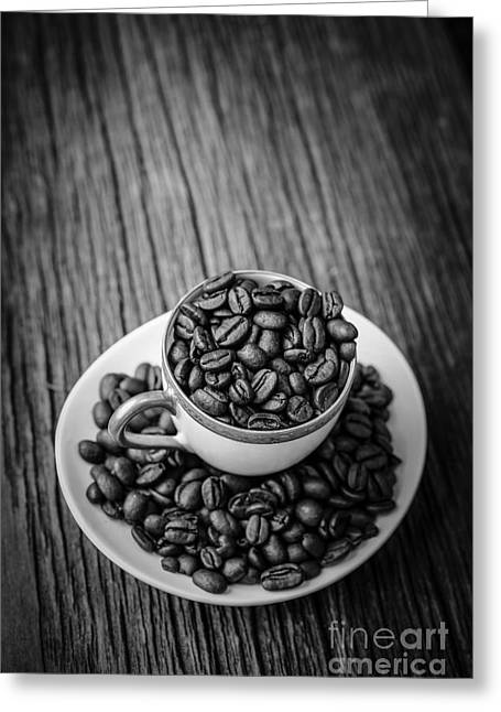 Bean Greeting Cards - Coffee Beans Greeting Card by Edward Fielding