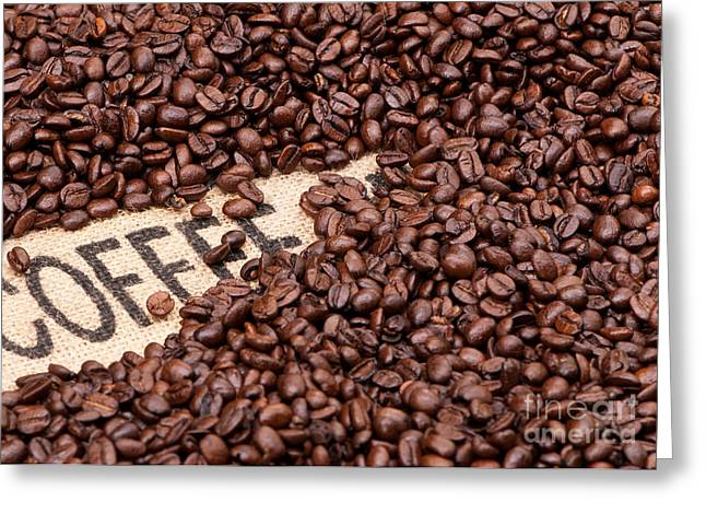 Rick Piper Greeting Cards - Coffee Beans Greeting Card by Rick Piper Photography