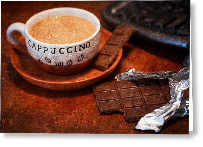Interior Still Life Photographs Greeting Cards - Coffee Break Greeting Card by Alexander Senin