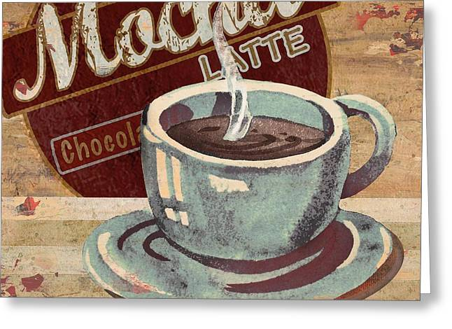 Barista Greeting Cards - Coffee Brew Sign II Greeting Card by Paul Brent