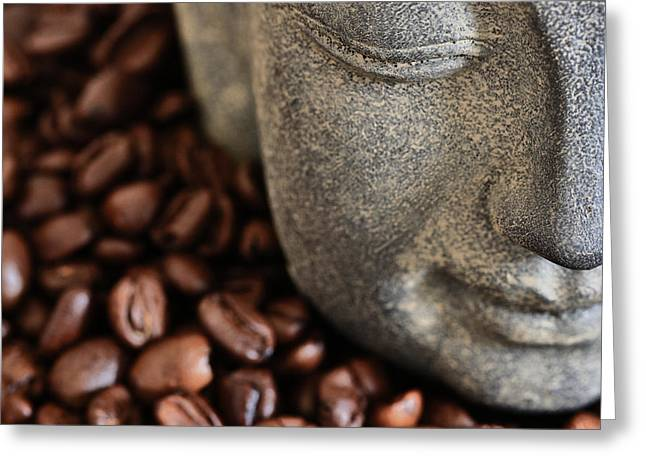 Asien Photographs Greeting Cards - Coffee Buddha 4 Greeting Card by Falko Follert
