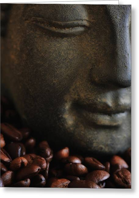 Asien Photographs Greeting Cards - Coffee Buddha 5 Greeting Card by Falko Follert