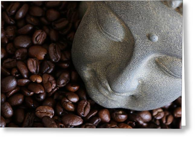 Asien Photographs Greeting Cards - Coffee Buddha 8 Greeting Card by Falko Follert