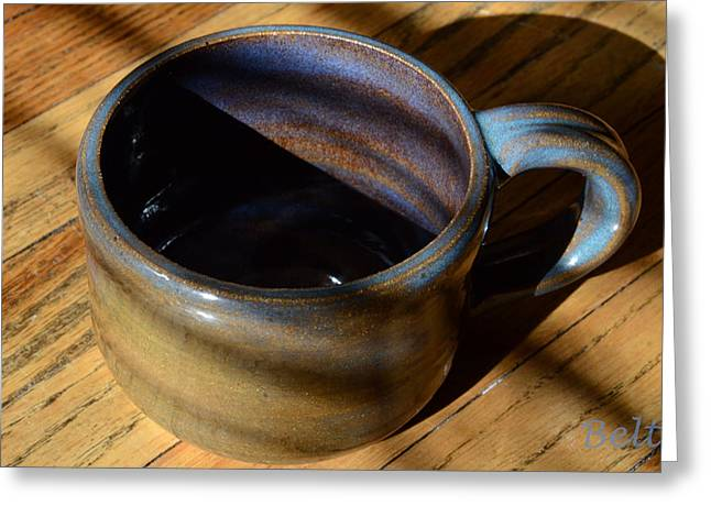 Ceramic Ceramics Greeting Cards - Coffee Connoisseur No.3 Greeting Card by Christine Belt