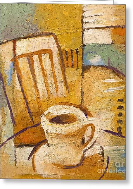 Corner Kitchen Greeting Cards - Coffee Corner Greeting Card by Lutz Baar