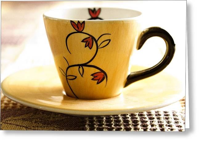 Familiar Greeting Cards - Coffee cup Greeting Card by Blink Images