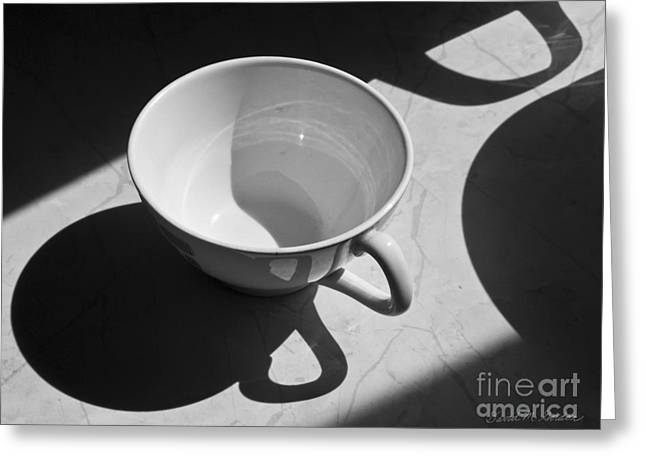 Gordan Greeting Cards - Coffee Cup in Light and Shadow Greeting Card by David Gordon