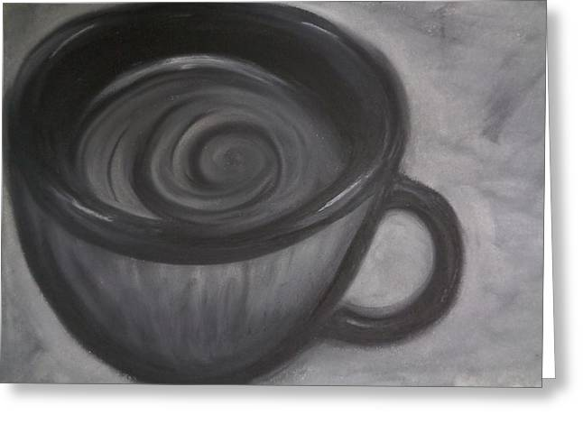 Stir Pastels Greeting Cards - Coffee Cup Greeting Card by Louis Noonburg