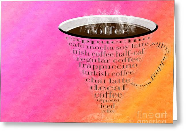 Coffee Cup The Jetsons Sorbet Greeting Card by Andee Design
