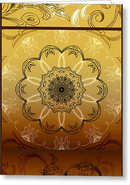 Rotation Greeting Cards - Coffee Flowers Calypso Triptych 4 Vertical Greeting Card by Angelina Vick