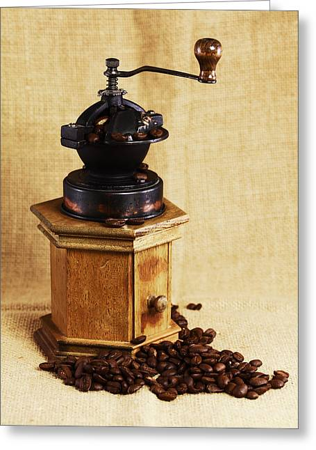 Kaffeemühle Greeting Cards - Coffee Grinder Greeting Card by Falko Follert