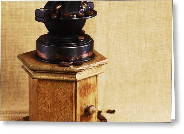 coffee grinder Greeting Card by Falko Follert