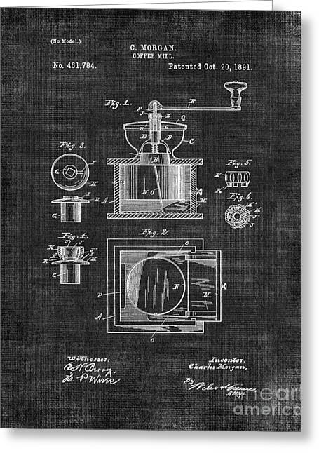 Old Grinders Digital Art Greeting Cards - Coffee Grinder Patent Greeting Card by Edit Voros