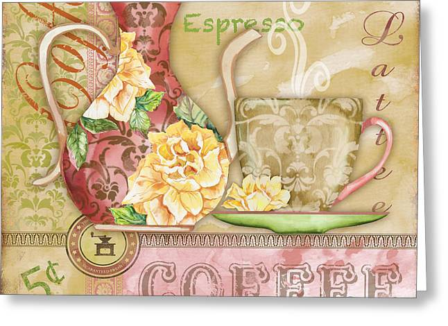 Green Beans Greeting Cards - Coffee-JP2580 Greeting Card by Jean Plout