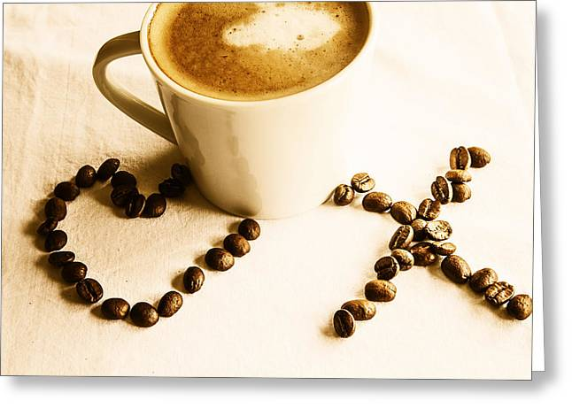 I Love America Greeting Cards - Coffee Love Greeting Card by Nomad Art And  Design