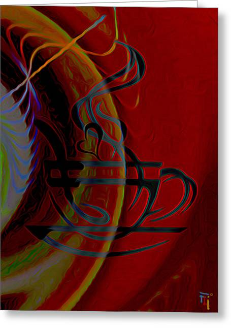 Lovers Art On Print Greeting Cards - Coffee Lover Greeting Card by  Fli Art
