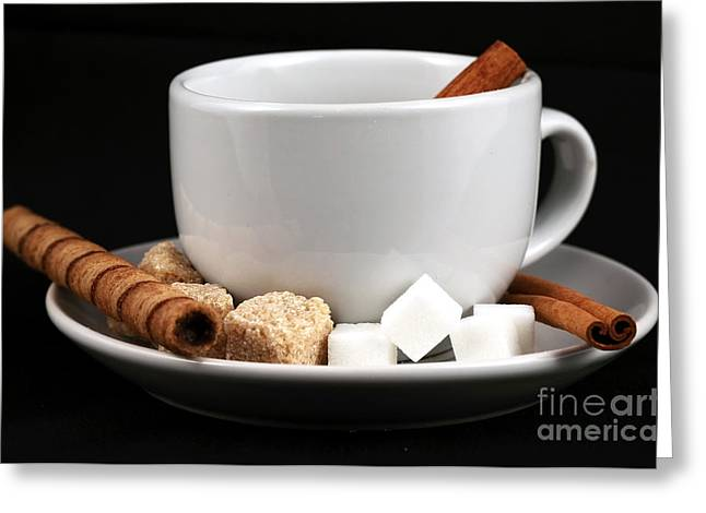 Sugar Cube Greeting Cards - Coffee Lover Greeting Card by John Rizzuto