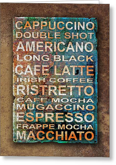 Nero Greeting Cards - Coffee Greeting Card by Mal Bray